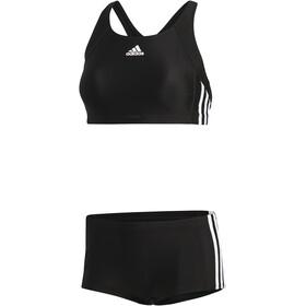 adidas Essence Core 3-Stripes Bikini Donna, black/white